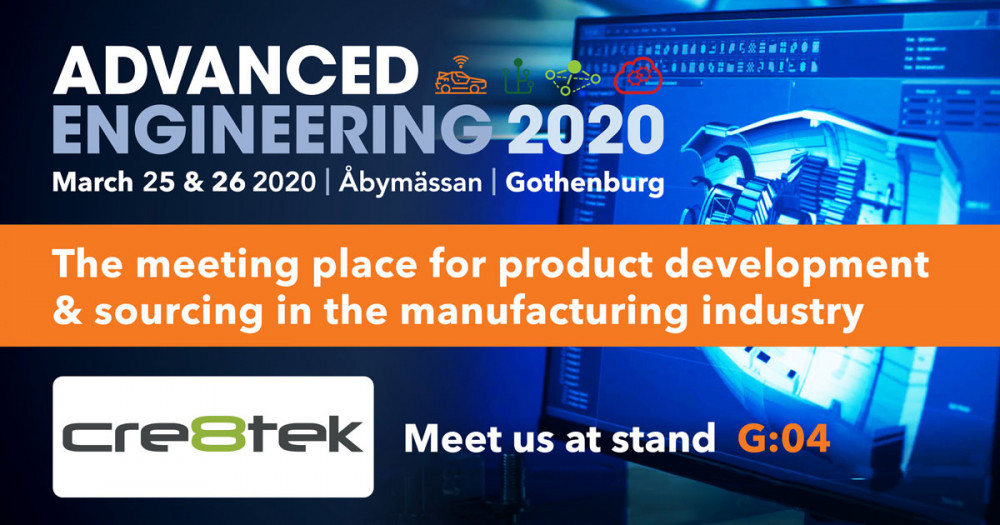 Advanced Engineering 2020, 25.-26 marts, Åbymässen, Gøteborg